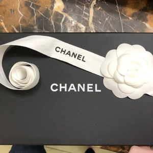 Chanel Costume Storage Box, Tissue, Tie & Flower